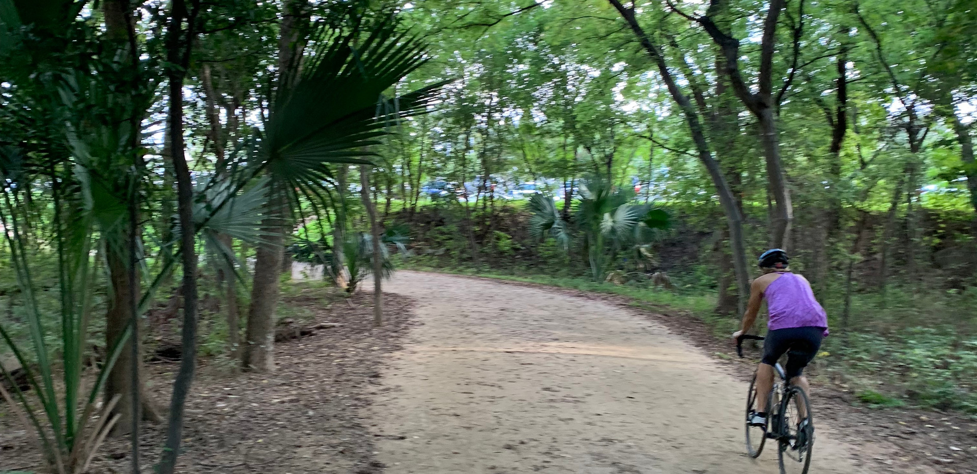 Townlake: Biking inside the trail