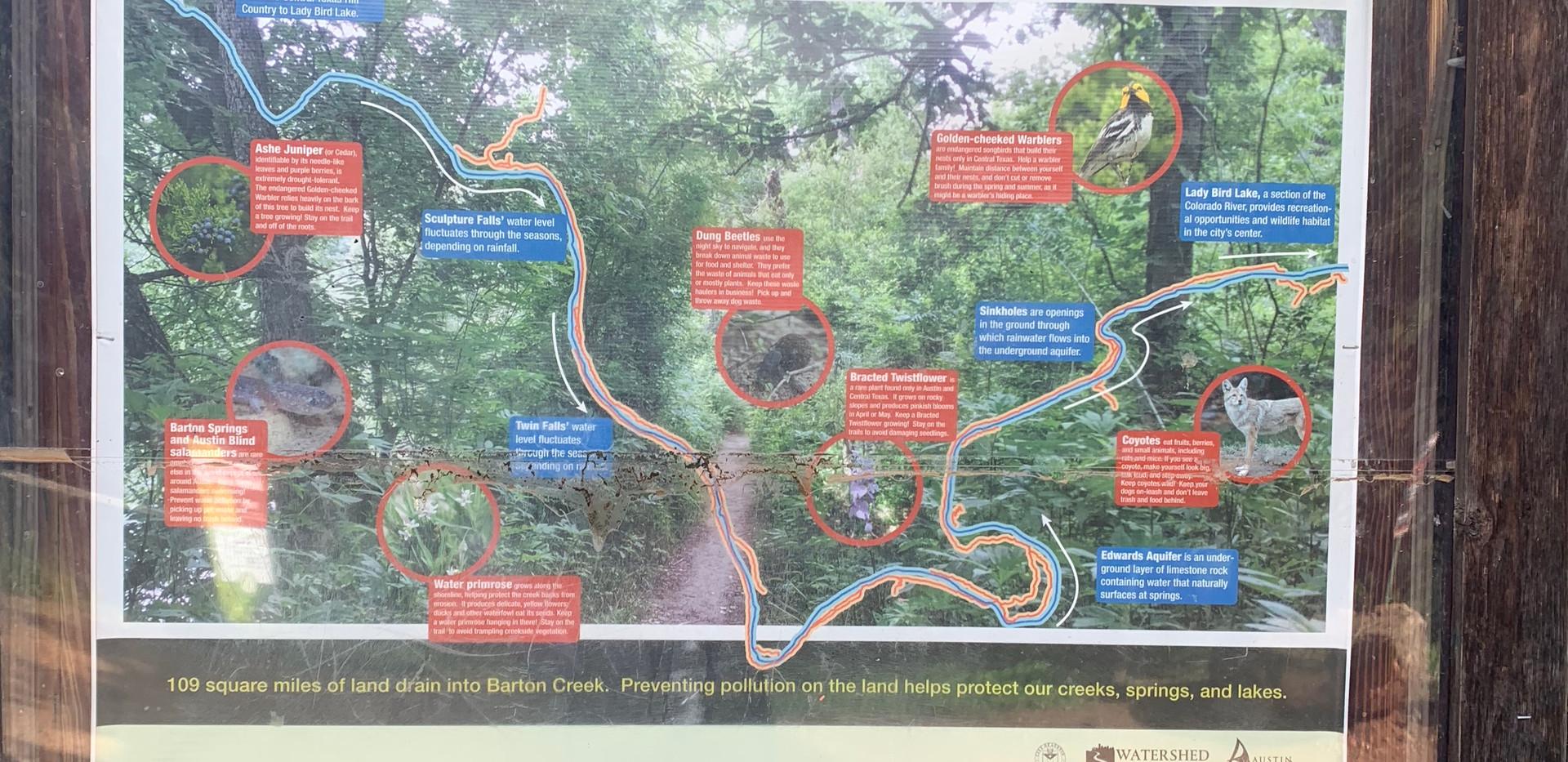 Greenbelt_ The map at the trailhead
