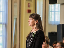 Katie received a bachelor of music degree from Ohio Wesleyan University and also studied at The Cummington School of the Arts in western Massachusetts. She has been a Suzuki piano teacher for26 years and has taught choral music atour school since its inception in 1981.