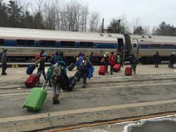 Norah Quebec trip train