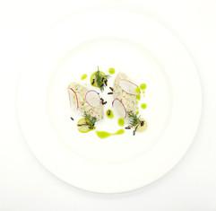 Cornish white crab salad