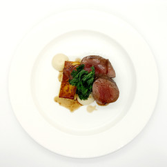Scottish roasted loin of venison