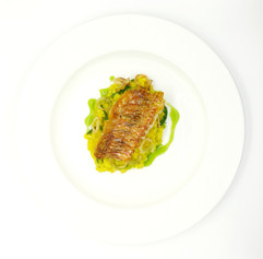 Seared Cornish red mullet
