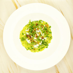 Garden pea and rocket risotto