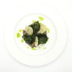 Roasted celeriac spelt risotto
