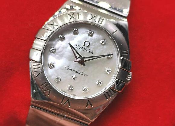 "Omega ""Cindy Crawford"" Constellation MOP Diamond Dial - MTG1x666"