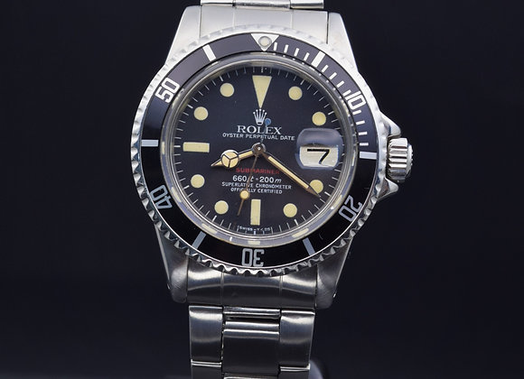Rolex vintage Red Submariner Ref: 1680, 3.3 mil series, MK 6 dial, B/P undated.