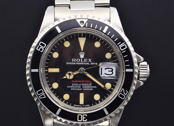 Rolex Red Sub 1680, 2.1 mil series, watch only.