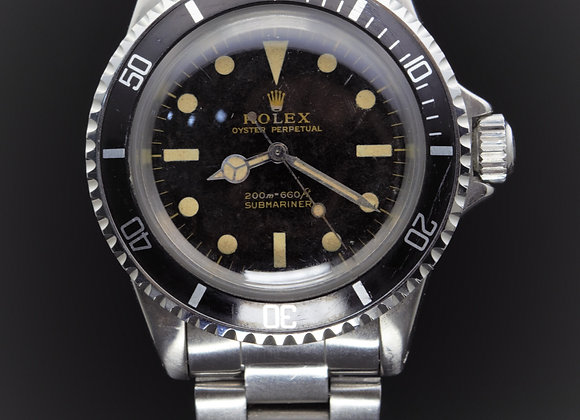 "Rolex vintage Submariner 5513 ""Gilt dial"", B/P - CS01"