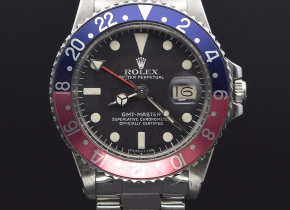 "Rolex Vintage GMT Master 1675 ""Pepsi"", 5.7 mil series, watch only."