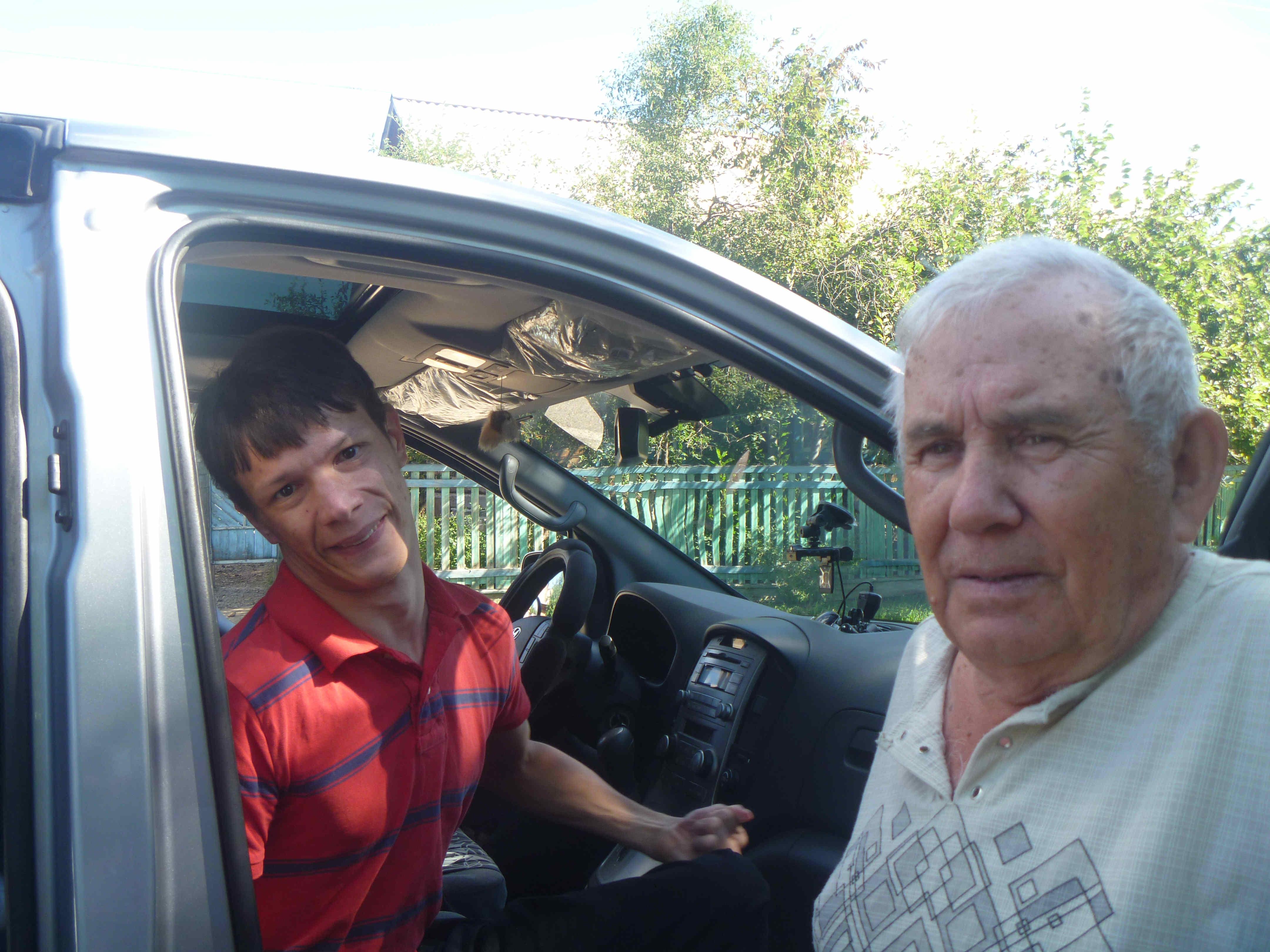 В гостях у Б. Макарова в Акше.