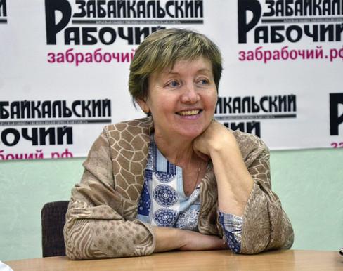 Елена Чубенко в гостях у «Забайкальского рабочего»