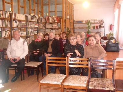Актив Литературной гостиной районной библиотеки Акши