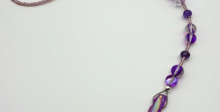 Purple Ray - Light Catcher - Purple Aura Quartz & Amethyst