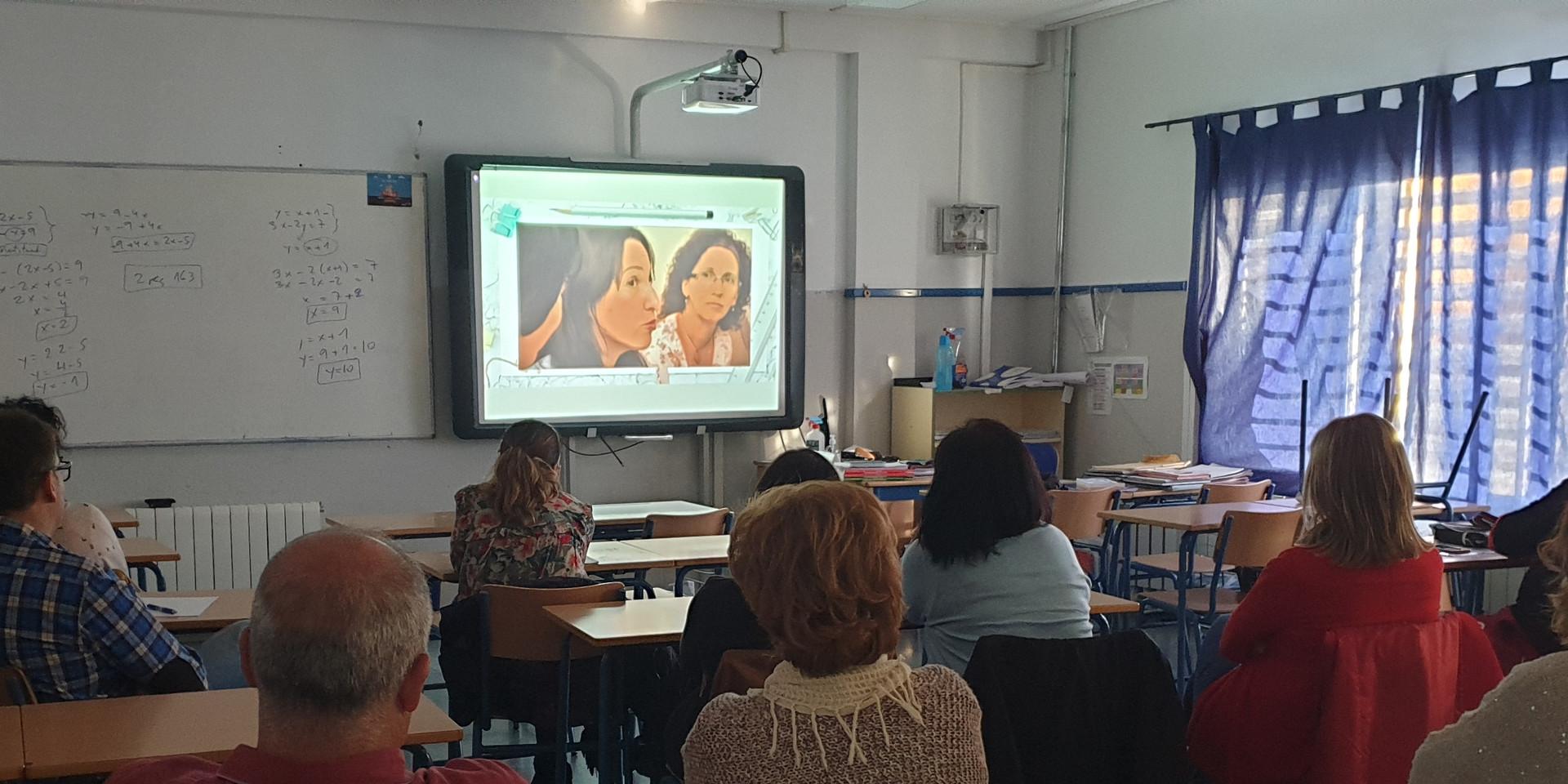 Charla a profesorado y familias del CEIP Rafaela Fernández (Fines)