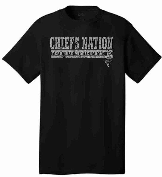 chiefs nation black t-shirt.