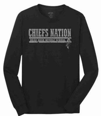 chiefs nation black long sleeve t-shirt.
