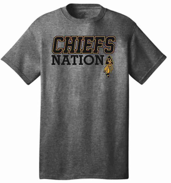 chiefs nation grey t-shirt.