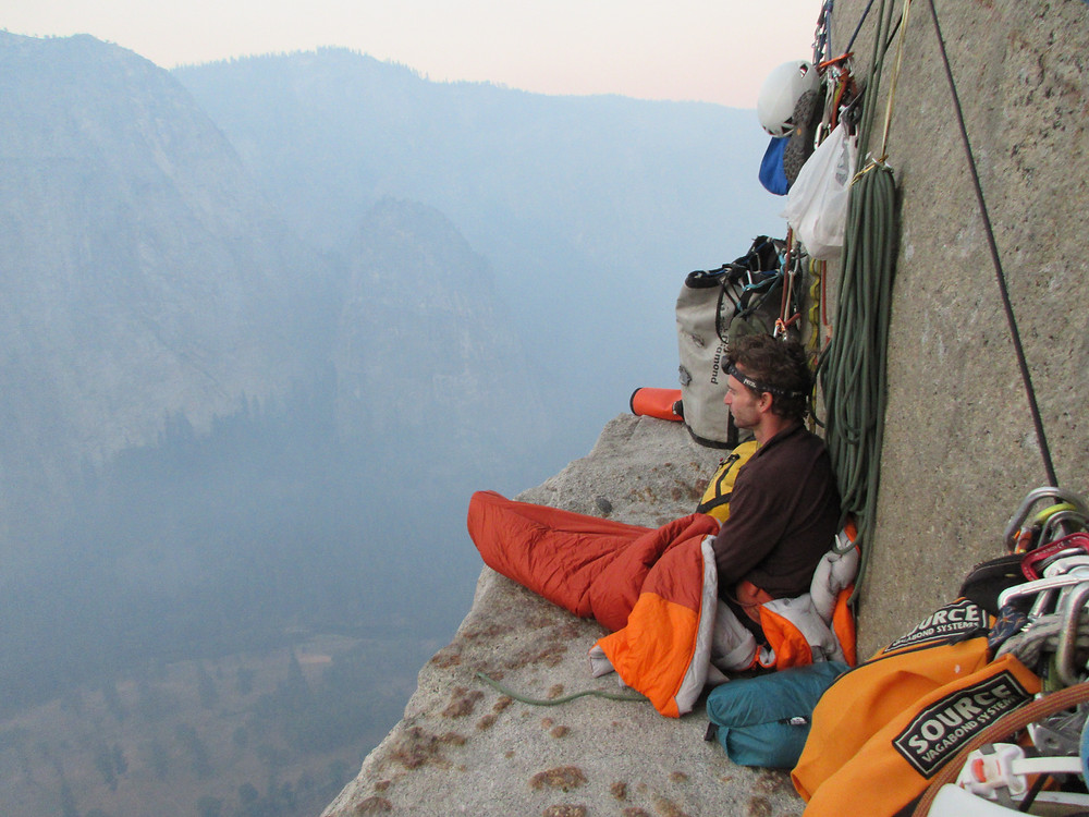 Looking on sunrise on El Cap Tower. the best bivy ledge on the Nose.