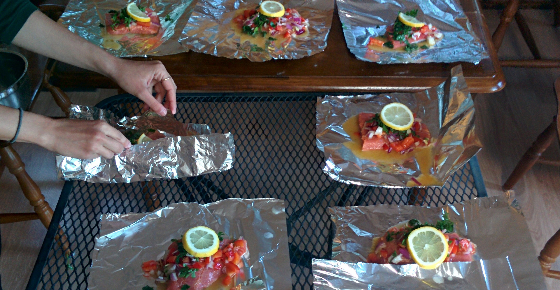 Want to have a good-grilled-wild-Alaskan Salmon ? Come with us. Photo (and cooking) by Ido.