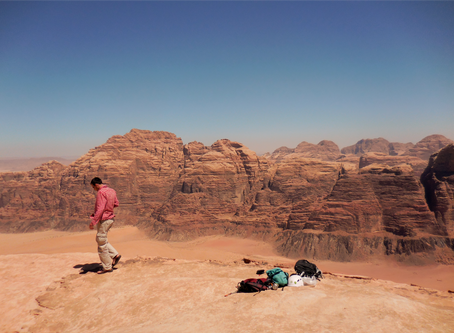 Climbing in Wadi Rum - recommended progress ladder