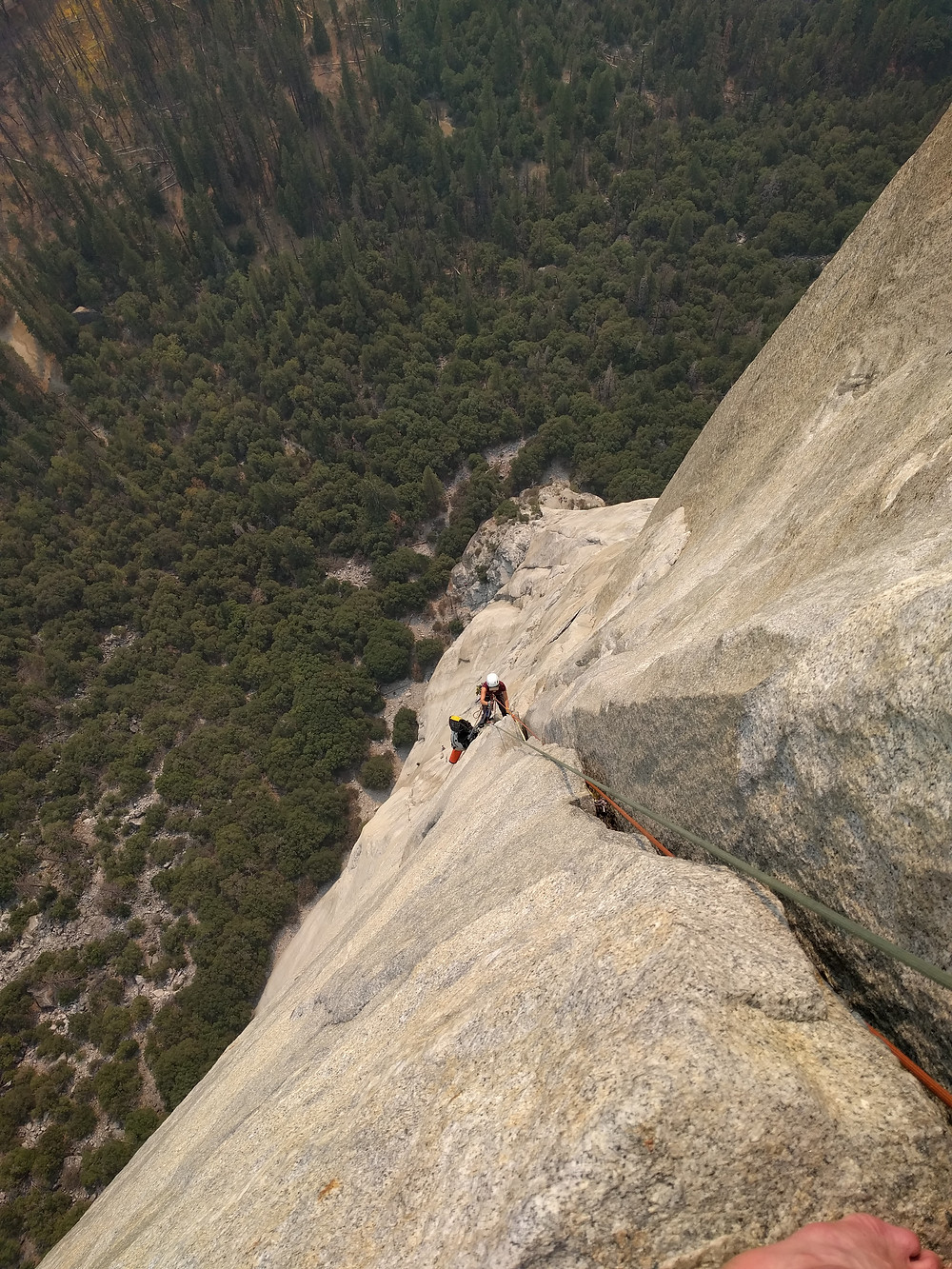 Hauling the Haulbags on The Nose, El Capitan, Yosemite.