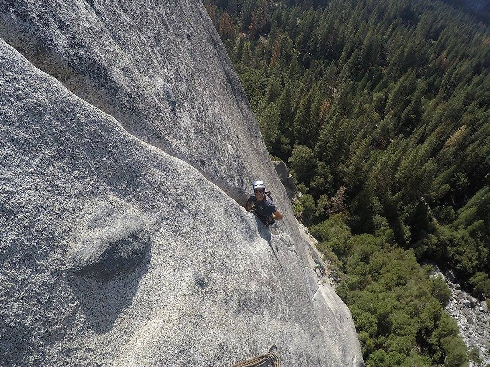 """Climbing """"Serenity Crack"""" & """"Sons of Yesterday"""" together is a true Yosemite Valley classic."""