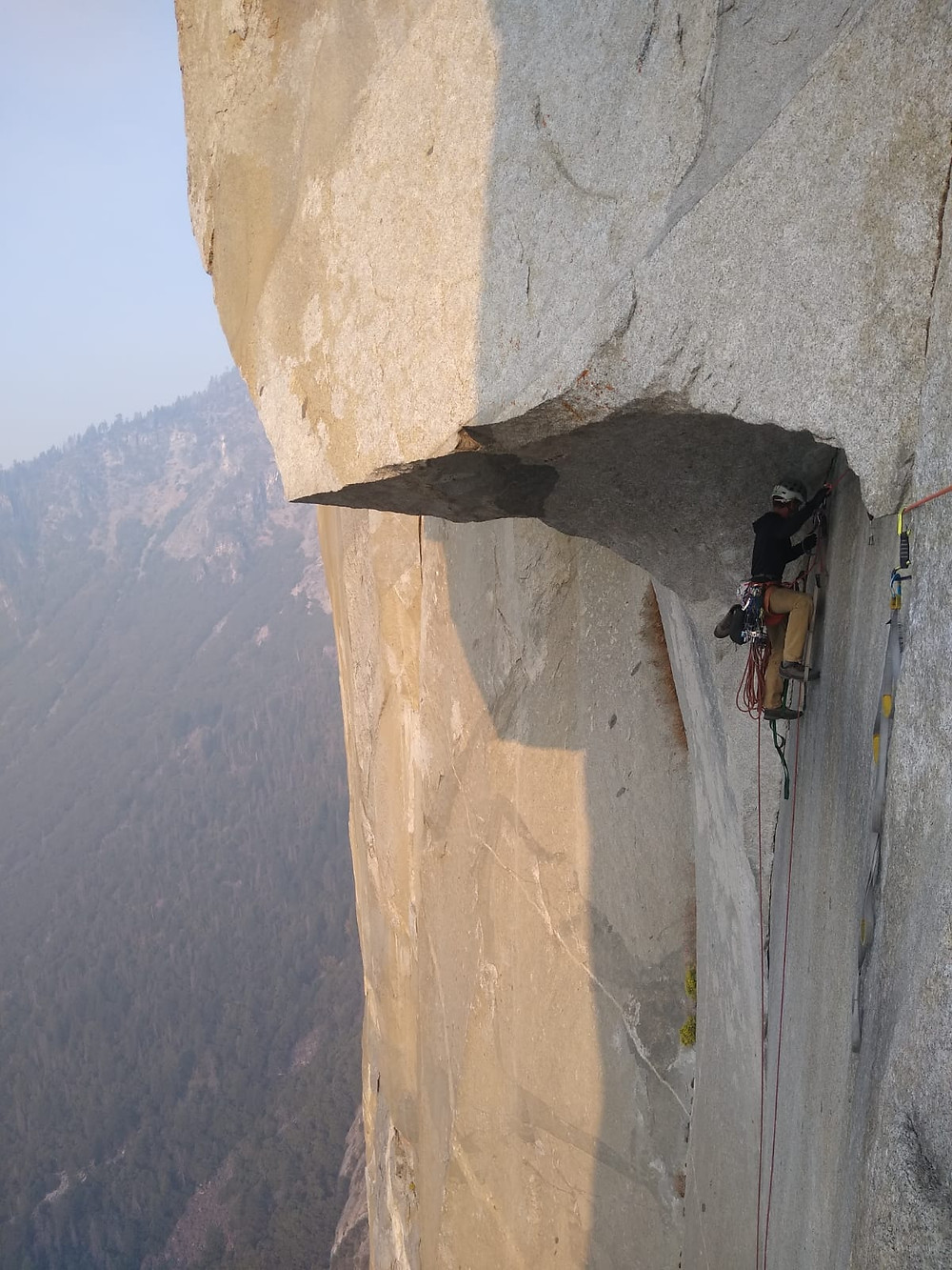 """Pitch 22 of The Nose aka """"The Great Roof"""". Yosemite."""