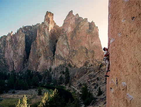"Rock Climbing route called ""Dreamin'"" at Smith Rock, Oregon."