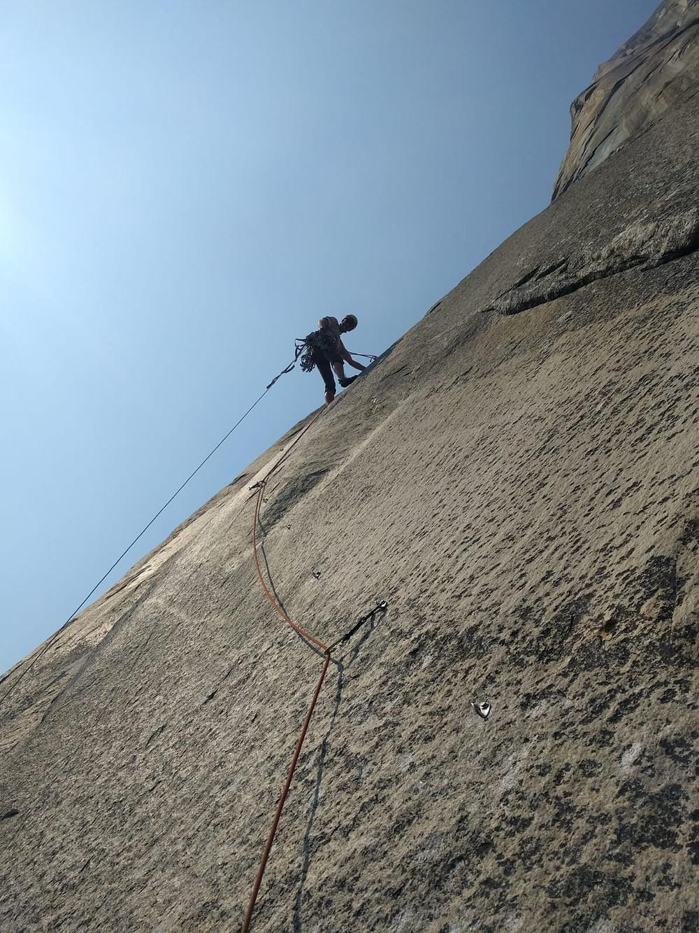 Climbing the Nose of El Capitan, Pitch 14.
