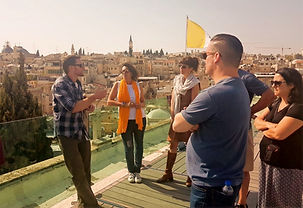 Guiding at old city of Jerusalem