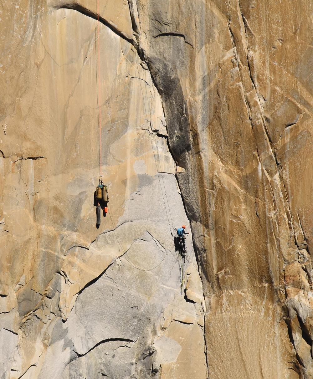 Hauling Bags on Padific Ocean Wall, El Capitan.
