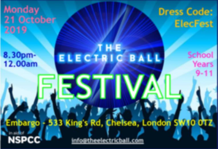 Electric Ball 2019 Invitation
