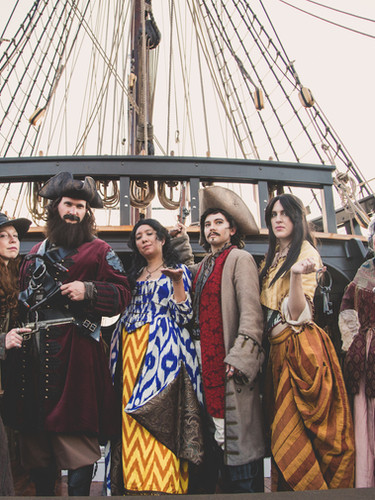 The Brothel Crew on a ship