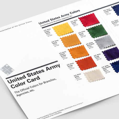 Official United States Army Card (1998 revised)