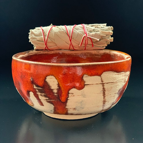 Medium Glazed Smudging Bowl