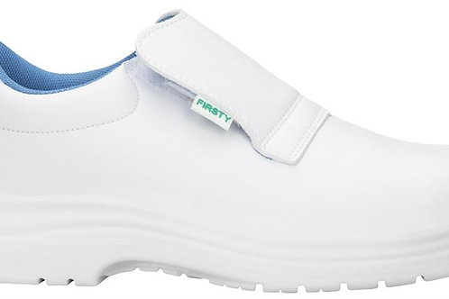 white safety moccasins with steel toe