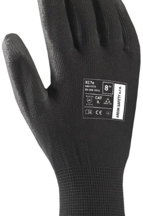 Pu coated Glove, Black