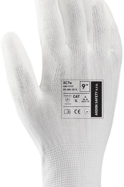Pu coated Glove, White