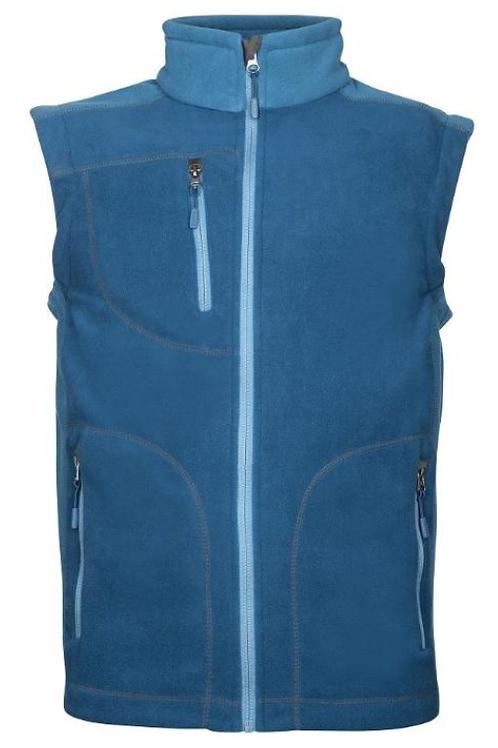 Men's fleece vest, Blue
