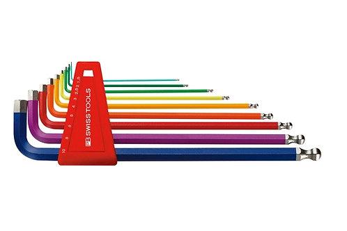 Ball End Hex L-Key Set - Rainbow_PB SWISS TOOLS