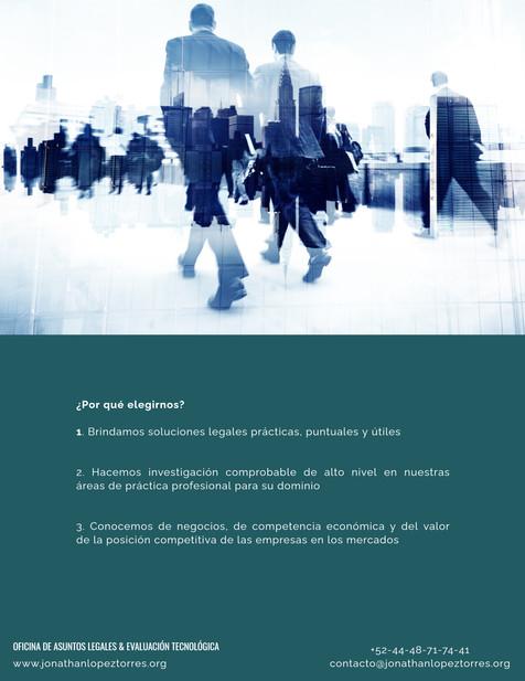 Brochure Oficina de Asuntos Legales & Evaluación Tecnológica
