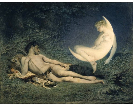 Moonlight: Endymion and Selene (reposted from Facebook)