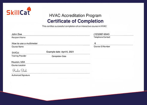 SkillCat certificate