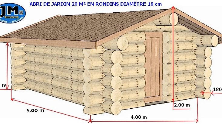 roemporia-trade   Abri de jardin bois rondin
