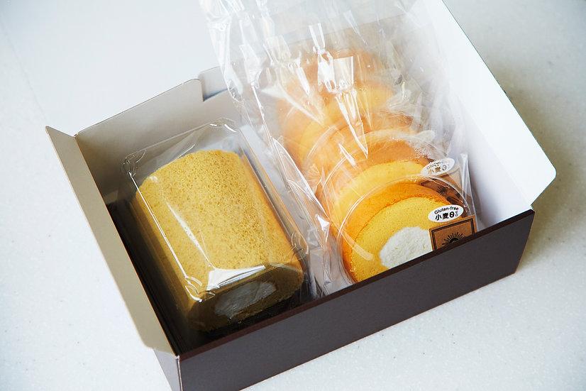 信州産ソルガムロールケーキ ハーフサイズ&5ピースセット