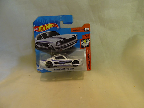 '65 Mustang 2+2 Fastback by Hot Wheels -Muscle Mania