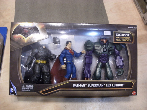 Batman,Superman and Lex luthor set of three by DC collectables