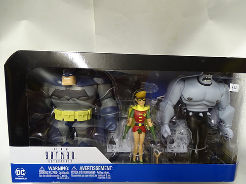 Batman, Robin and Mutant Leader figures - The New Batman Adventures