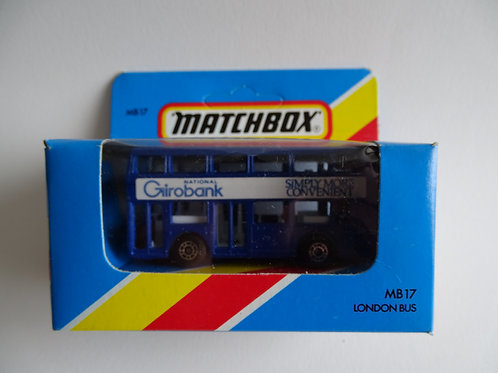 Matchbox London bus boxed
